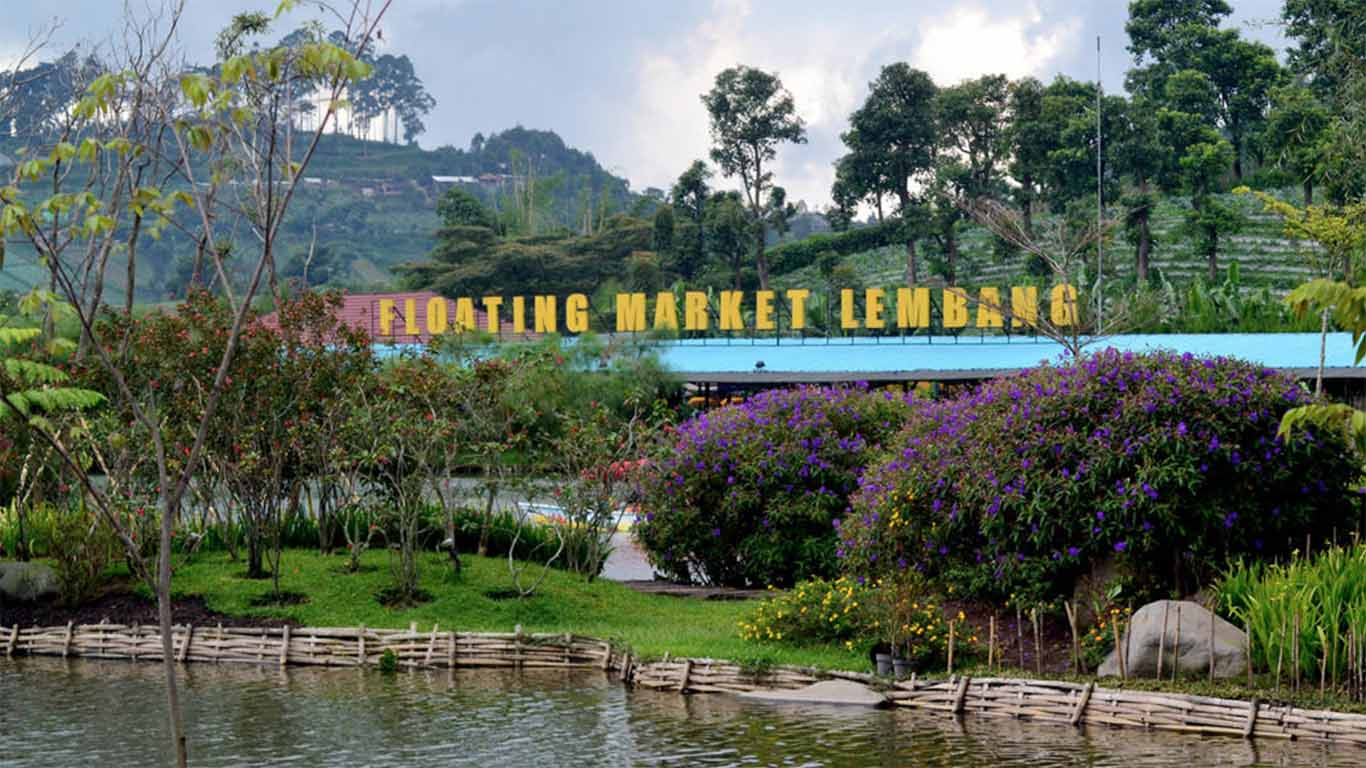 tempat wisata di bandung Floating Market Lembang