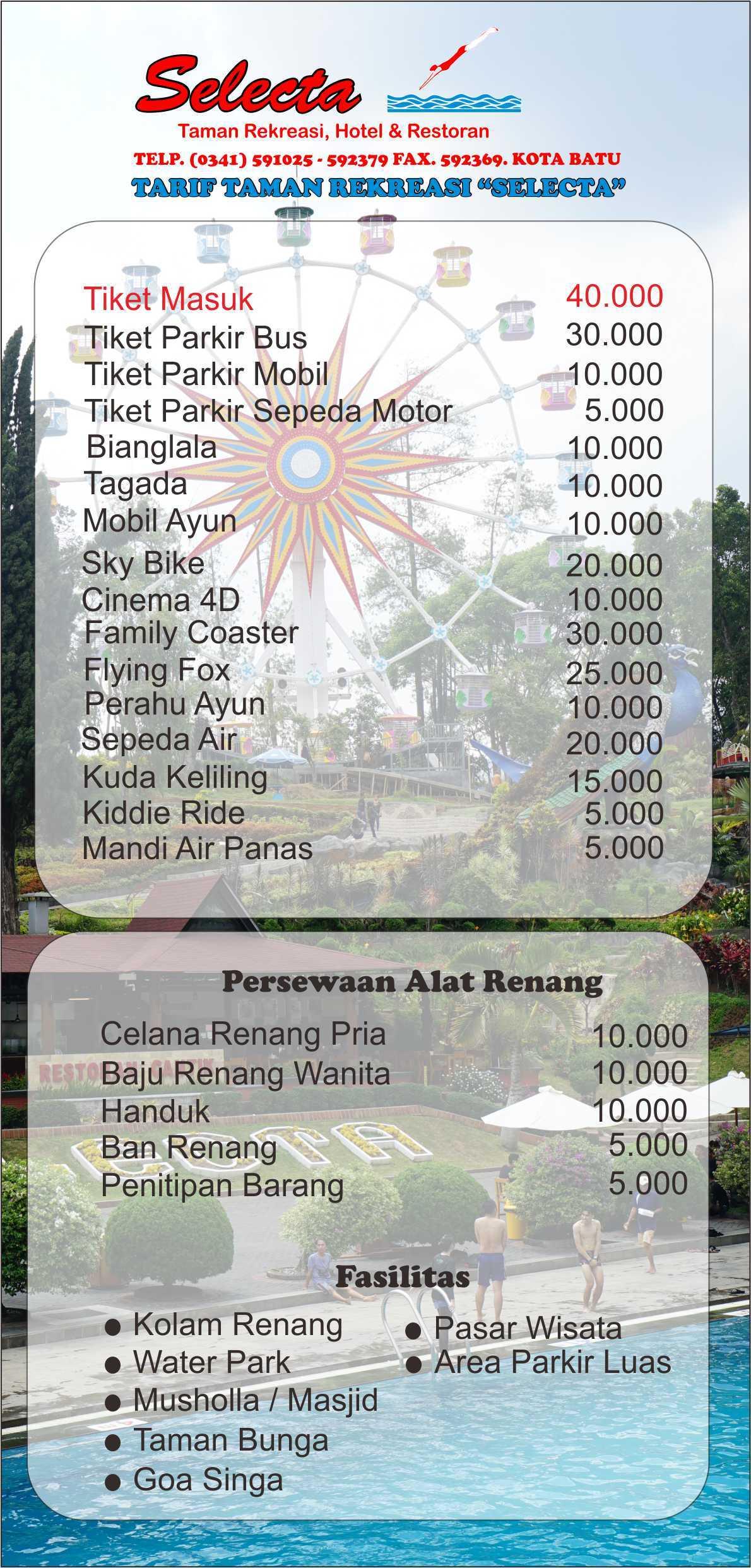 √ Fasilitas, Wahana, dan Harga Tiket Masuk Selecta Batu Malang 9